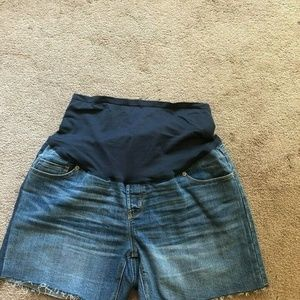 MATERNITY Jean Shorts, Over Belly, Size 12!
